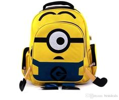 Backpacks Cheap 2015 Despicable Me Children Cartoon Minions Yellow Bag  Backpack For Kids In Stock 033f7722a7576