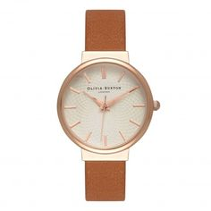 Ladies The Hackney Tan & Rose Gold Watch | Olivia Burton London