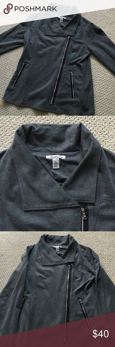 Kenneth Cole-  Asymmetrical zip gray jacket Kenneth Cole-  Super cute slightly asymmetrical zip jacket!  Excellent condition, no stains, rips or tears. All zippers work!  Perfect for work or play! Kenneth Cole Jackets & Coats