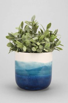4040 Locust Watercolor Planter Urban Outfitters - Plant Pot - Ideas of Plant Pot - 4040 Locust Watercolor Planter Urban Outfitters Ceramic Planters, Ceramic Vase, Ceramic Pottery, Blue Pottery, Pottery Vase, Keramik Design, Painted Pots, Hand Painted, Ceramic Painting