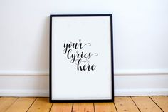 Song Lyrics Graphic Art Print