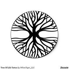 Tree Of Life Tattoo Classic Round Sticker