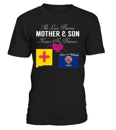 The Love Between Mother and Son Knows No Distance New Mexico Oregon State T-Shirt #LoveNoDistance