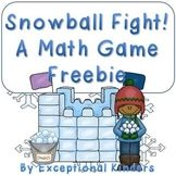 Snowball Fight! A Winter Math Game Freebie