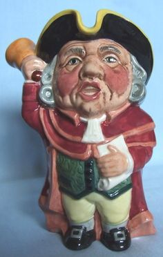 "MANOR WARE STAFFORDSHIRE TOBY JUG ""TOWN CRIER"""