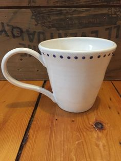 Porcelain Mug with Dots by VAceramics on Etsy