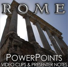 Ancient Rome PowerPoint with Video Clips and Presenter Notes covers the rise of Rome from a republic to an empire, the birth of Christianity and Rome's fall. Ancient Rome PowerPoint is packed with maps, primary source documents, stunning visuals, and embedded video links, everything you need to keep your students engaged.