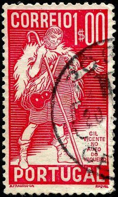 Portugal 1937 - Gil Vicente fue el primer gran dramaturgo portugués y poeta de renombre.