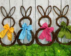 Bunny Door Hanger Easter Door Hanger by EverBloomingOriginal