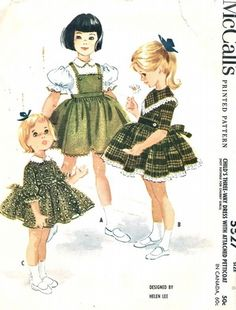 McCall's Pattern 5527 Vintage 60's Girls Three-Way Dress with Attached Petticoat!