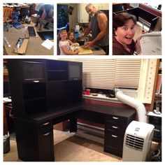 We finished assembling the new desk!!! Neal and the girls made homemade meatballs too for dinner.