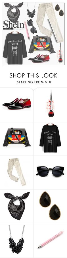 """""""shein.com"""" by ilona-828 ❤ liked on Polyvore featuring Christian Louboutin, Levi's, Alexander McQueen, Natasha Accessories, Betty Jackson, women's clothing, women's fashion, women, female and woman"""