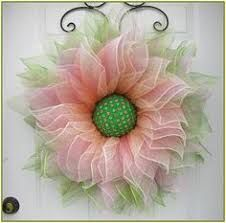 Deco Mesh Flower Wreath, Summer Wreath, Spring Wreath, Front Door Wreath, with Faux Green and Pink Gems in the Center by A Noble Touch – Wreath For Front Door İdeas. Rifle Paper, Doily Art, Spring Front Door Wreaths, Spring Wreaths, Holiday Wreaths, Purple Wreath, Wreath Crafts, Wreath Ideas, Valentine Day Wreaths