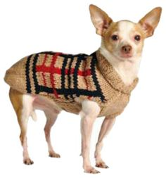 Chilly Dog Tan Plaid Dog Sweater, Small - http://www.thepuppy.org/chilly-dog-tan-plaid-dog-sweater-small/