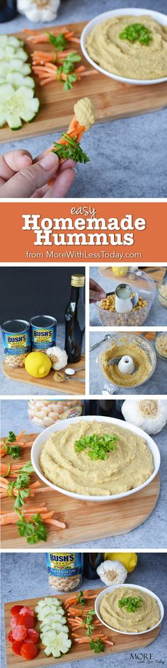 I'm celebrating summer with my Easy Homemade Hummus Recipe, made with @bushsbeans Garbanzo Beans. Perfect for picnics, parties or afternoon snack. I make sure to restock my pantry with them every time I go to Walmart. #MyBestWithBushBeans #ad  @soapboxinfluence @thewomenblogger