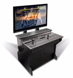 Xtension Sit Down Pedestal Arcade Cabinet For Fight Sticks