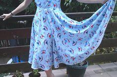 Full circle skirt - dress by Puffka&Sue