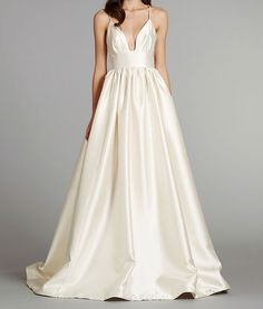 Wedding dress- 2013 new empire spaghett strap brush train wedding dress on Etsy, $150.00
