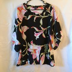 Karen Kane Floral Print Blouse Love this blouse ladies super cute and trendy! Just in time for Spring! NWOT! Measurements: Armpit to Armpit: 21.5 Length: 27.5 Material: 100% Viscosa PRICE IS NOT FIRM OFFERS ACCEPTED UPON REQUEST... Karen Kane Tops Blouses