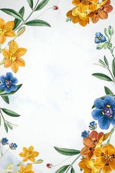 Flower Wallpaper, Pattern Wallpaper, Wallpaper Backgrounds, Wallpapers, Flora Frame, Frame My Photo, Free Frames, Instagram Frame, Floral Border