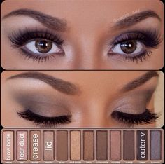 Makeup with Urban Decay palette