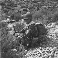 French; Paratrooper, 2e REP, taken during Operation Pennelope in the region of Haddada, Algeria in February 1957