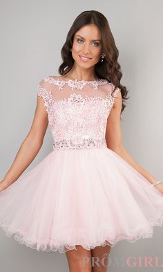 Classy light pink dress for PROM