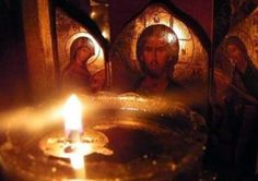 The candle burning near the home altar. Religious Photos, Religious Paintings, Religious Art, Prayer Corner, Prayer Book, Unity Candle, Candles, Orthodox Prayers, Orthodox Christianity