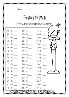 Math 5, Teaching Math, Math Exercises, Maths Exam, I Love Math, Third Grade Math, Math Practices, Math For Kids, Math Worksheets