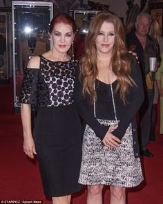 {Mum and daughter Priscilla Beaulieau Presley and Lisa Marie Presley}