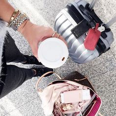 insta inspiration travel-look-airport-outfit-details-fashionhippieloves New Travel, Travel Packing, Travel Backpack, Travel Style, Travel Outfits, Travel Fashion, Travel Chic, Passport Travel, Luxury Fashion