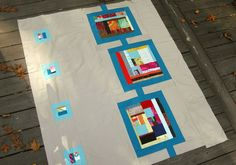 Modern quilt compostition 1