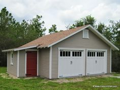 22'x24' two car garage with 6'x12' workshop