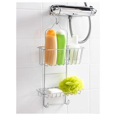 IKEA - IMMELN, Shower hanger, two tiers, Made of zinc-plated steel which is durable and rust resistant. Ikea Finds, Shower Accessories, Bathroom Wallpaper, Shower Caddy, Zinc, Ikea, Rust Resistant, Hanging Shower Caddy, Bathroom Accessories