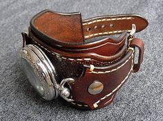 leon / Steampunk vreckové/náramkové hodinky hnedé