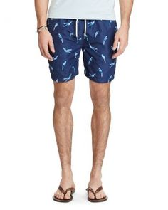 POLO RALPH LAUREN Traveler Toucan Swim Trunks. #poloralphlauren #cloth #trunks