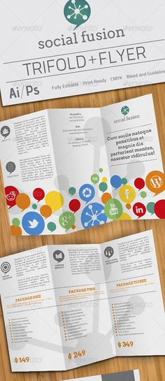 Print Templates – Social Fusion Trifold And Flyer