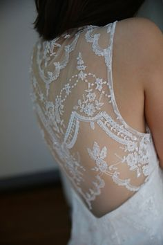 Claire Pettibone Inspired Backless Sheer Back Lace Mermaid Wedding Dress/See Through Back Gown on Etsy, $199.00