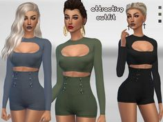 The Sims Resource: Attractive Summer Outfit by Puresim • Sims 4 Downloads
