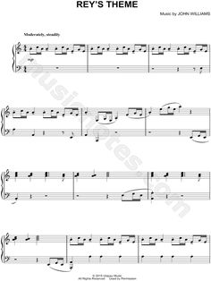 Print and download Rey's Theme sheet music from Star Wars Episode VII: The Force Awakens arranged for Piano. Instrumental Solo in A Minor.