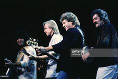 Patrick Moraz, Justin Hayward, John Lodge and Ray Thomas of The Moody Blues