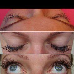 Semi-permanent eyelash extensions...want sooooo bad!