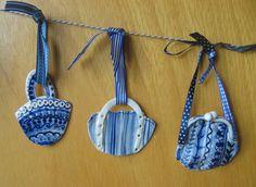 New porcelain purse Christmas ornaments by Harriet Damave