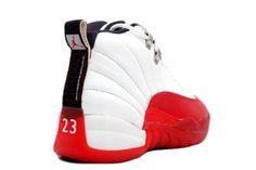 Air Jordan 12 Retro Shoes White Red Jordan Basketball Shoes, Air Jordan Shoes, Original Air Jordans, Sneakers Fashion, Sneakers Nike, Jordan Shorts, Jordans For Sale, Air Jordan 12 Retro, Retro Shoes