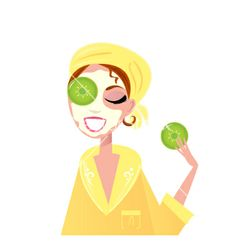 Girl with cucumber on eyes and beauty facial mask. Beauty Care, Diy Beauty, Beauty Skin, Beauty Hacks, Beauty Makeup, Facial Masks, Spa Facial, Skin Care Routine For Teens, Spa Art