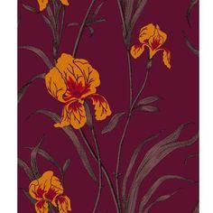 Iris - Purple/Orange Lee Jofa Fabric 83-2006-CS Cole & Son Indoor Wallcovering