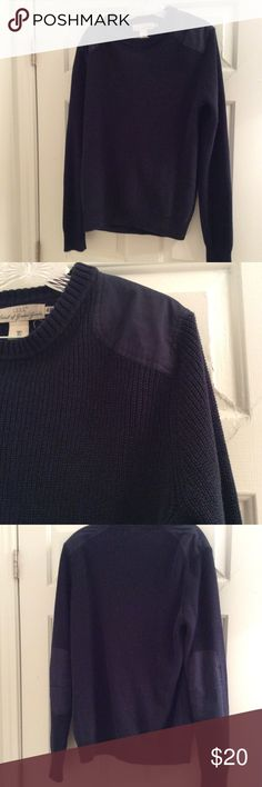 Men's sweater with patches Patches on elbow and shoulder H&M Sweaters Crewneck