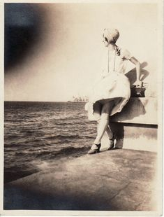 Girl at the Malecon, Havana, Cuba 1930s