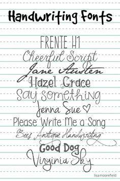 Free Handwriting Fonts at LisaMoorefield / ALittleScrapbooking ~~ {10 free fonts w/ links}