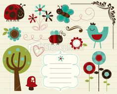 cute element design Royalty Free Stock Vector Art Illustration